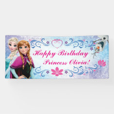 Disney Frozen Birthday Banner at Zazzle