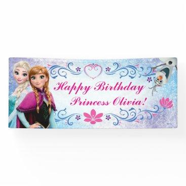birthday Disney Frozen Birthday Banner