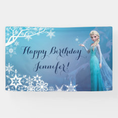 Disney Frozen Elsa Birthday Banner at Zazzle