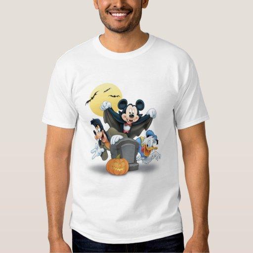 Disney Halloween Mickey y amigos Playeras