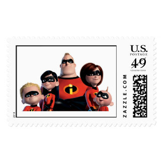 Disney Incredibles Family  Postage Stamp