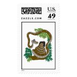 Disney Jungle Book Kaa with Mowgli Stamp