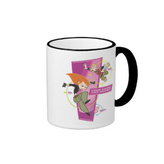 Disney Kim Possible and Ron Stoppable Action Ringer Coffee Mug