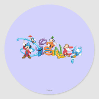Disney Logo 2 Round Stickers