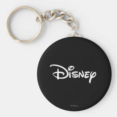 Disney Logo 3 Basic Round Button Keychain