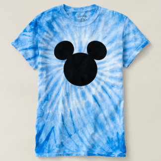 Disney Logo | Black Mickey Icon Tie-Dye T-shirt
