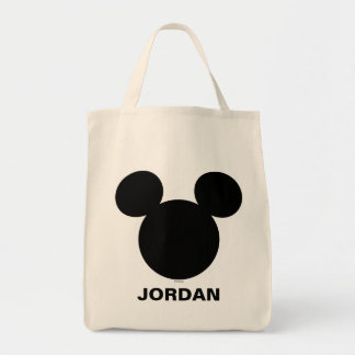 Disney Logo   Black Mickey Icon Tote Bag