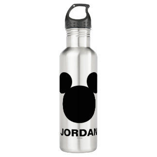 Disney Logo | Black Mickey Icon Water Bottle