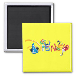 Disney Logo | Boy Characters 2 Inch Square Magnet