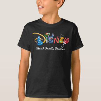 Disney Logo | Boy Characters - Family Vacation T-Shirt