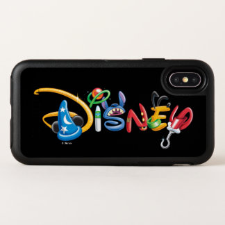 Disney Logo | Boy Characters OtterBox Symmetry iPhone X Case