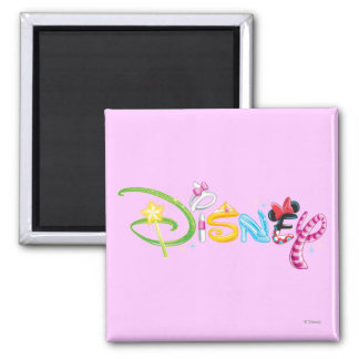Disney Logo | Girl Characters 2 Inch Square Magnet