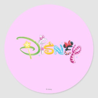 Disney Logo | Girl Characters Classic Round Sticker