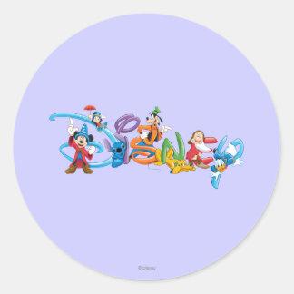 Disney Logo   Mickey and Friends Classic Round Sticker