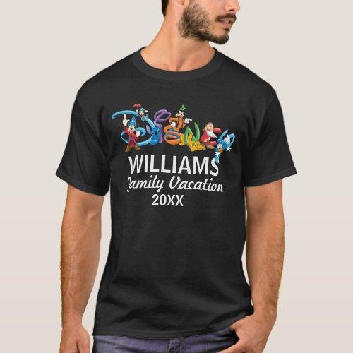 Disney Logo  Mickey and Friends _ Family Vacation T_Shirt