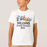 Disney Logo | Mickey And Friends - Family Vacation T-shirt at Zazzle