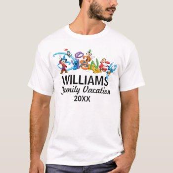 Disney Logo | Mickey And Friends - Family Vacation T-shirt by DisneyLogosLetters at Zazzle