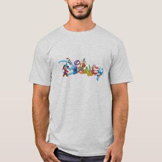 Disney Logo   Mickey And Friends T-shirt at Zazzle