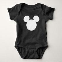 Disney Logo | White Mickey Icon Baby Bodysuit