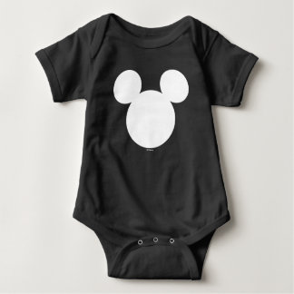 Disney Logo | White Mickey Icon Baby Bodysuit