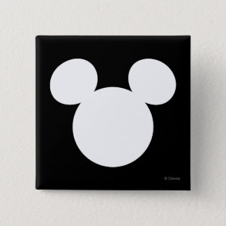 Disney Logo | White Mickey Icon Button