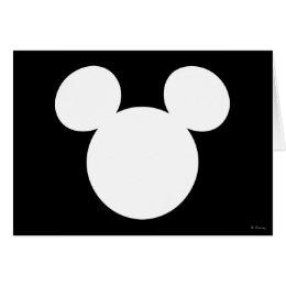 Disney Logo   White Mickey Icon Card