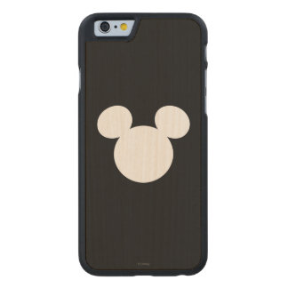 Disney Logo | White Mickey Icon Carved® Maple iPhone 6 Slim Case