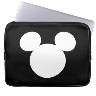 Disney Logo   White Mickey Icon Computer Sleeve
