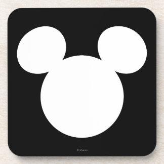 Disney Logo | White Mickey Icon Drink Coaster
