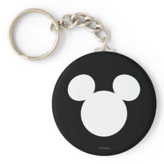 Disney Logo | White Mickey Icon Keychain