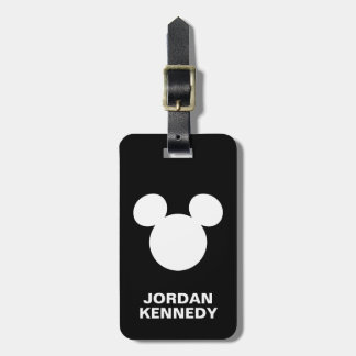 Disney Logo | White Mickey Icon Luggage Tag