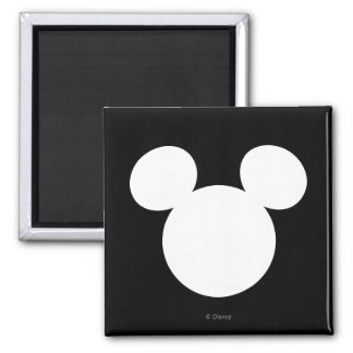 Disney Logo | White Mickey Icon Magnet