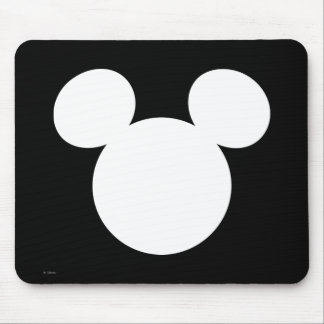 Disney Logo | White Mickey Icon Mouse Pad