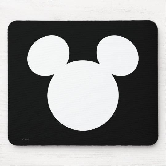 Disney Logo | White Mickey Icon Mouse Pad | Zazzle
