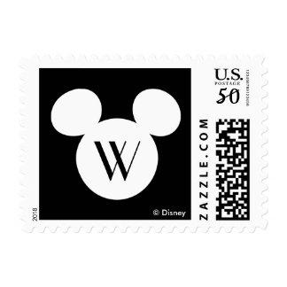 Disney Logo | White Mickey Icon Postage