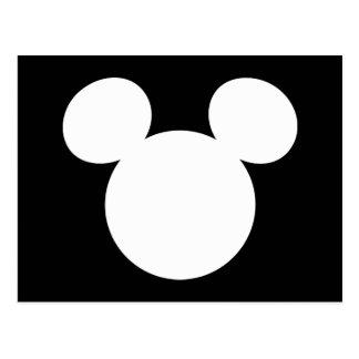 Disney Logo | White Mickey Icon Postcard