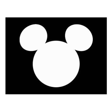 disney Disney Logo | White Mickey Icon Postcard