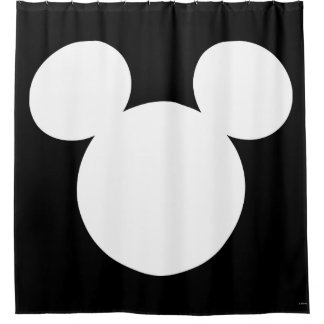 Disney Logo | White Mickey Icon Shower Curtain
