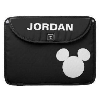 Disney Logo | White Mickey Icon Sleeve For MacBook Pro