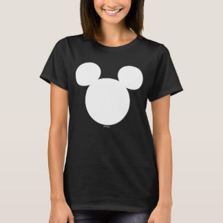 Disney Logo | White Mickey Icon T-Shirt