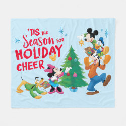 Disney | Mickey & Friends - Holiday Cheer Quote Fleece Blanket