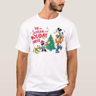 Disney Christmas Shirt Designs.Disney Mickey Friends Holiday Cheer Quote T Shirt