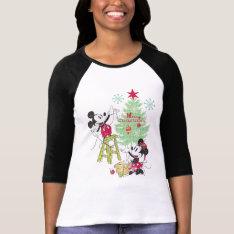 Disney | Mickey & Minnie | Classic Christmas Tree T-shirt at Zazzle