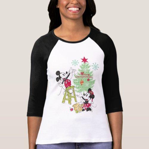 Disney  Mickey  Minnie  Classic Christmas Tree T_Shirt