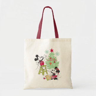 Disney | Mickey & Minnie | Classic Christmas Tree Tote Bag