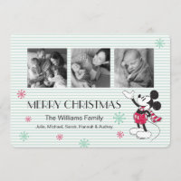 Disney | Mickey & Minnie | Holiday Stripes Pattern
