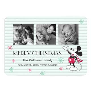 Disney | Mickey & Minnie | Holiday Stripes Pattern Card