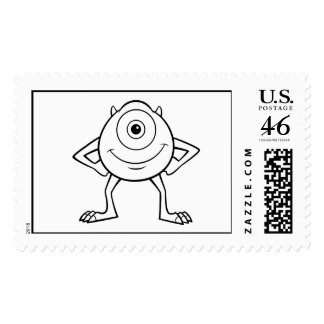 Disney Monster Inc Mike Postage Stamps