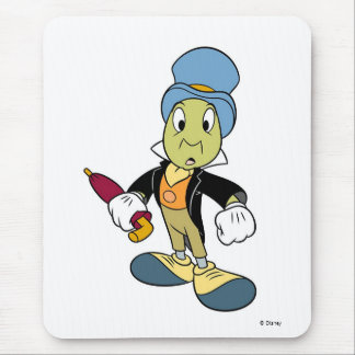 Disney Pinocchio Jiminy Cricket standing Mouse Pad