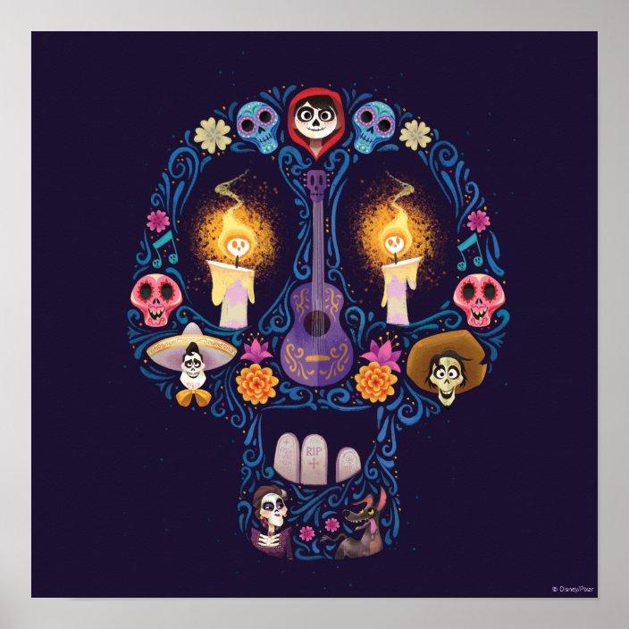 NWT-Disney//Pixar Coco Child/'s T-Shirt-Day of the Dead//Sugar Skull Sz XS,S,M,XL